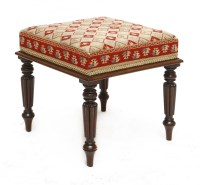 Lot 69 - A Victorian mahogany stool