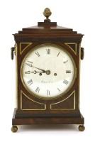Lot 59 - A Regency mahogany eight-day brass-mounted bracket clock