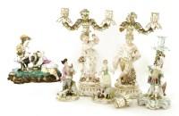 Lot 52 - A German porcelain group