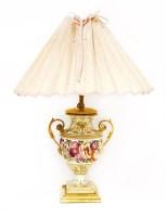 Lot 54 - A Derby porcelain vase/table lamp