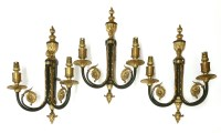 Lot 99 - Three George III-style two-branch wall lights