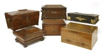 Lot 97 - A Chippendale period three-compartment tea caddy