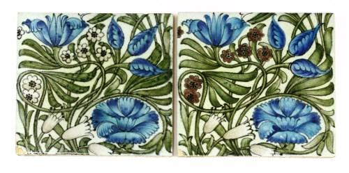 Lot 31-Two William de Morgan pottery tiles