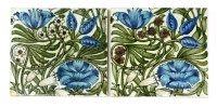 Lot 31-Two William de Morgan pottery tiles