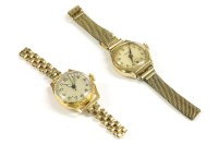 Lot 91-A ladies 18ct gold mechanical watch