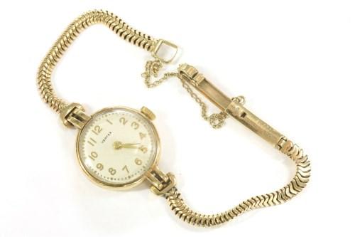 Lot 68-A ladies 9ct gold Vertex mechanical bracelet watch