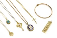 Lot 14-A collection of gold items