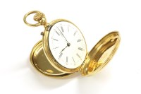 Lot 82 - A French 18ct gold ladies Hunter fob watch