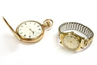 Lot 74-A rolled gold Hunter pocket watch