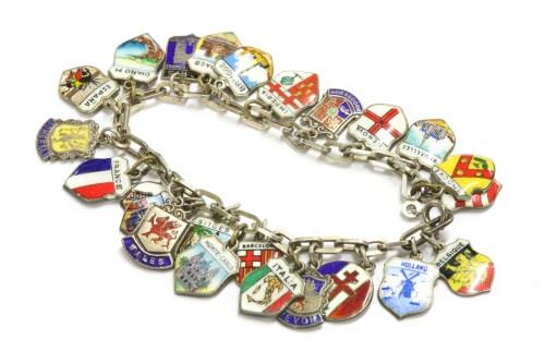 Lot 72-A silver charm bracelet