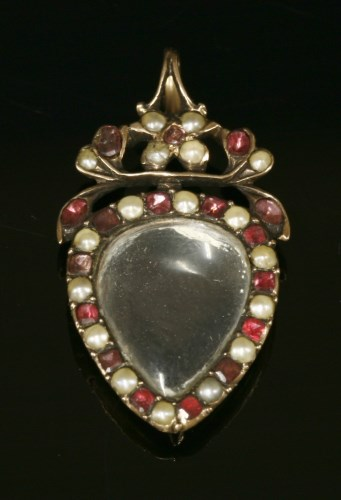 Lot 10-A Georgian gold and flat cut garnet