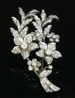 Lot 41-A late Victorian diamond set spray brooch