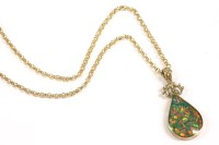 Lot 39-A 9ct gold opal triplet