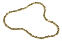 Lot 40-A 9ct gold panther and cross link chain necklace