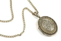 Lot 34-A large Victorian silver locket