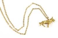 Lot 37-A 9ct gold German Shepherd pendant