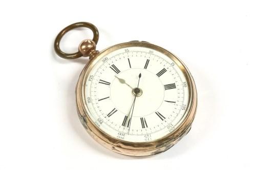 Lot 3-A gold open faced pocket watch