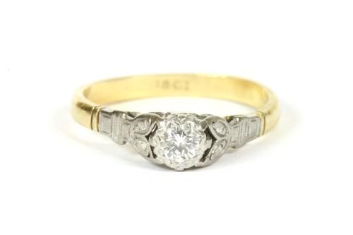 Lot 19-A single stone illusion set brilliant cut diamond ring