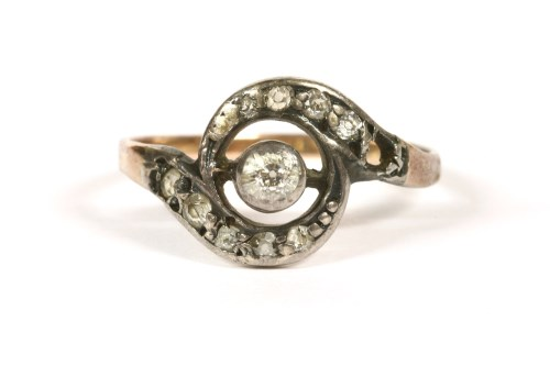 Lot 20-A diamond crossover ring