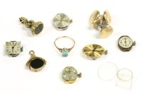 Lot 24-A collection of jewellery to include a gold single blue stone ring