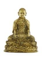 244 - A Chinese Tibetan bronze figure