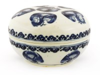 Lot 50-A Chinese blue and white box and cover