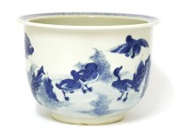 Lot 52-A Chinese blue and white planter