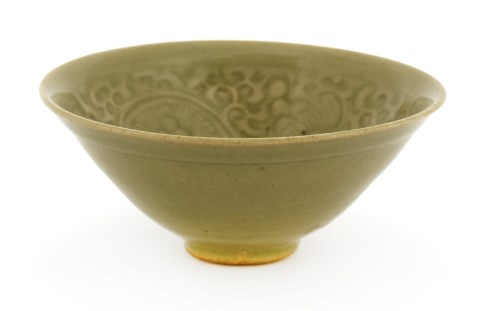 Lot 13-A Chinese Yaozhou ware celadon bowl