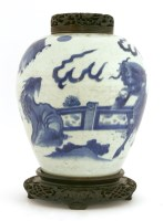 Lot 37-A Chinese blue and white ginger jar