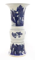 Lot 34-A Chinese blue and white beaker vase