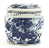 Lot 51-A Chinese blue and white jar and cover