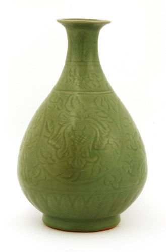 Lot 23-A Chinese Longquan ware yuhuchun vase