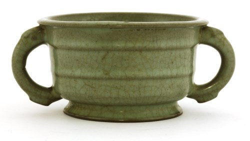 Lot 27-A Chinese ge-type celadon censer