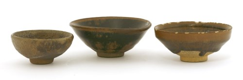 Lot 11-Three Chinese Jian ware tea bowls