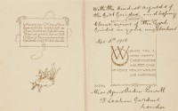 "Lot 1-Girl Guide: Agnes Smyth Baden-Powell: A SIGNED  Christmas card: ""With the kindest regards of the ..."