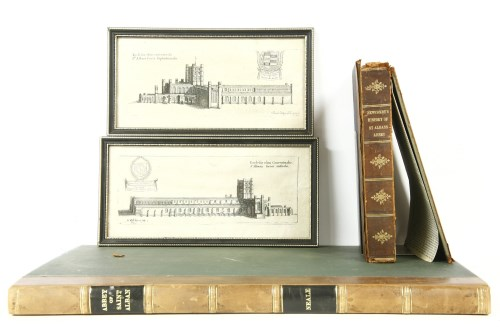 Lot 5-SAINT ALBANS: 1- The Abbey Church of Saint Albans illustrated by James Neale.  Association of Royal Institute of British Architects