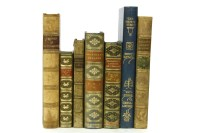 Lot 45-FINE BINDINGS: Large quantity of good 19 century full and half leather bound books (qty.)
