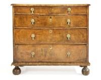 805 - A Queen Anne walnut chest