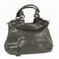 Lot 1002-A Salvatore Ferragamo black leather large tote handbag
