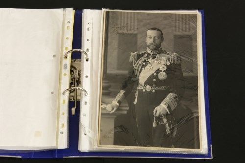 Lot 4-SIGNED ROYALTY: A collection of 17 mainly autograph letters signed