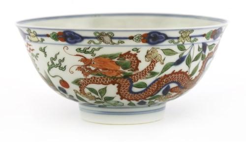Lot 40-A fine Chinese wucai bowl