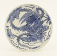 Lot 46-A Chinese blue and white dish
