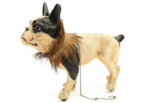 Lot 339 - A late Victorian Papier Mache Boston Terrier