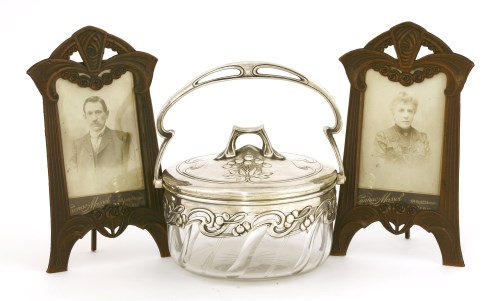 Lot 10-A WMF silver-plated preserve dish and cover