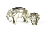 Lot 69-An Edwardian hallmarked silver pin cushion