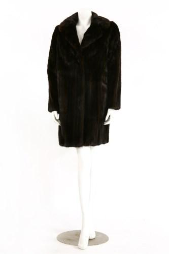 Lot 1366-A dark brown mink jacket with collar
