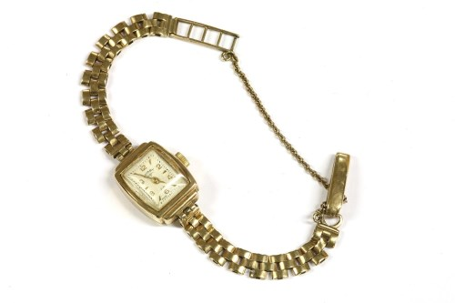 Lot 23-A ladies 9ct gold Rotary mechanical bracelet watch