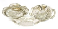 Lot 15 - Three Art Nouveau dishes
