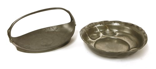 Lot 12-A Kayserzinn pewter basket