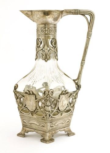 Lot 28-A WMF claret jug or carafe